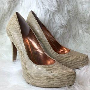 BCBGmaxazria NEW Real Leather platform high heel